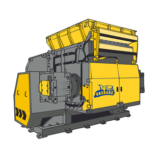 TW series single shaft shredder